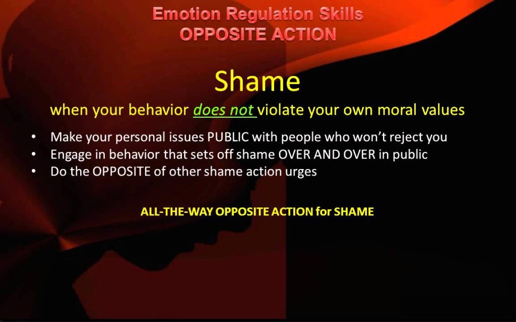 DBT Peer Connections   Ep 4c – Emotion Regulation Opposite Action