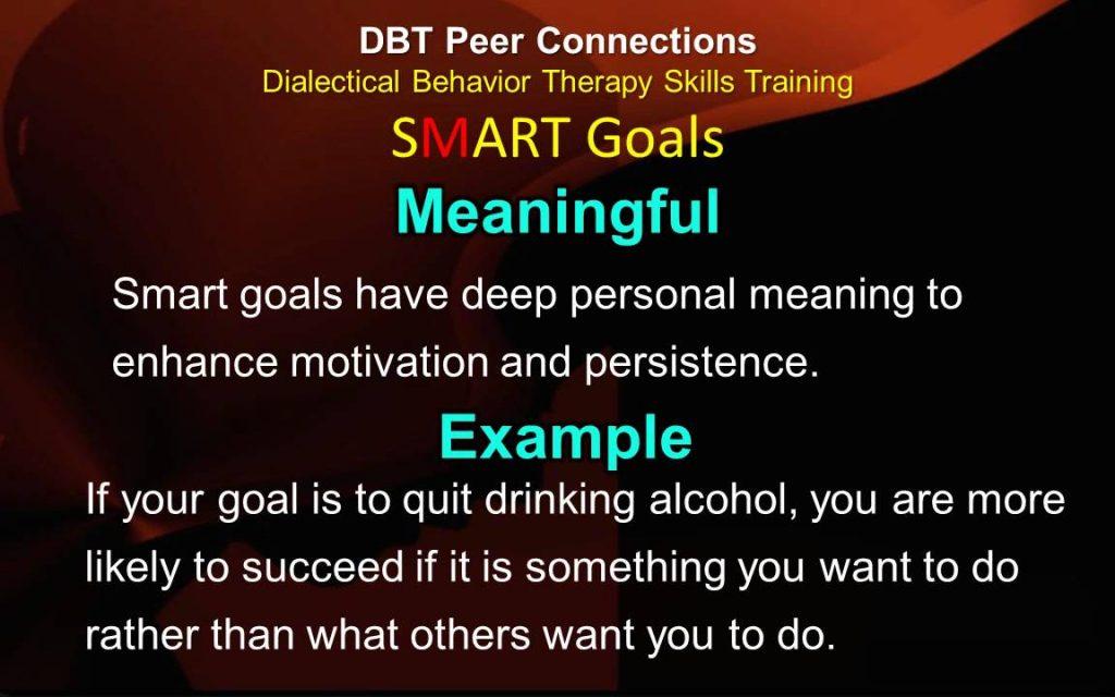 SMART Goals & VITALS Skills - Ep 1c - DBT Peer Connections