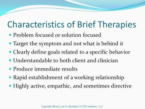 Tip 34 Brief therapy