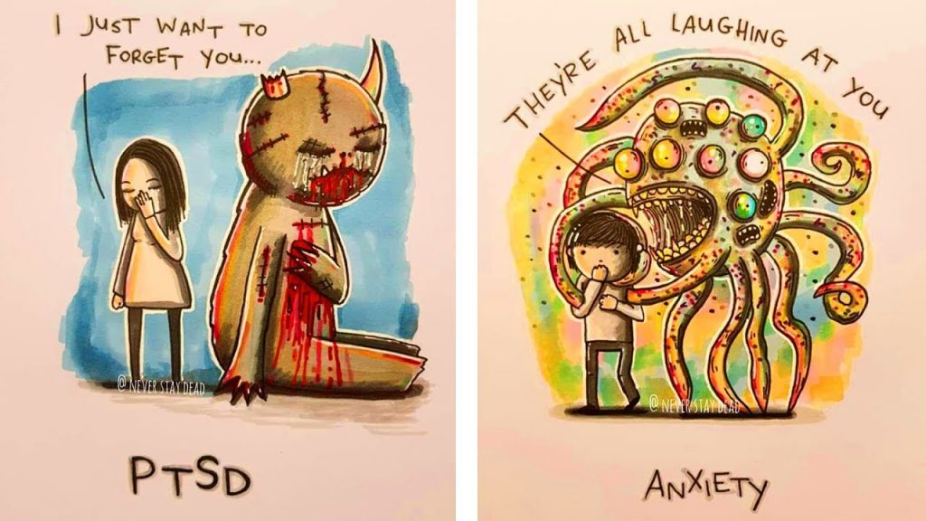 Artist Illustrates Mental Illness And Disorders In His Own Personal Depictions