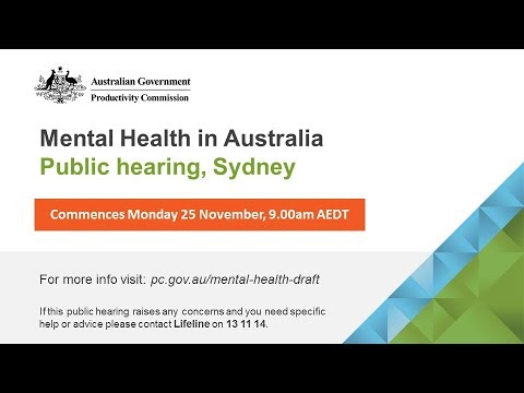 Mental Health in Australia public hearing (Sydney, Monday 25 November 2019)