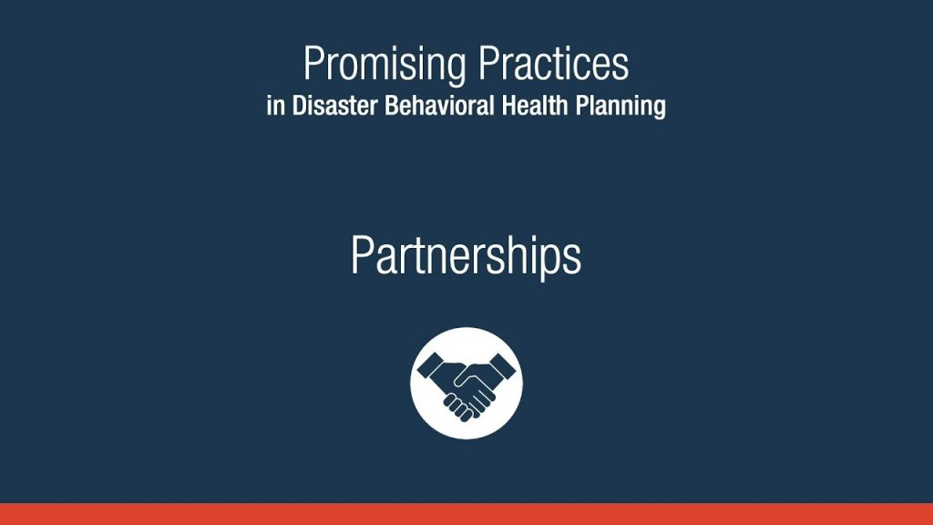 Promising Practices in Disaster Behavioral Health Planning: Partnerships