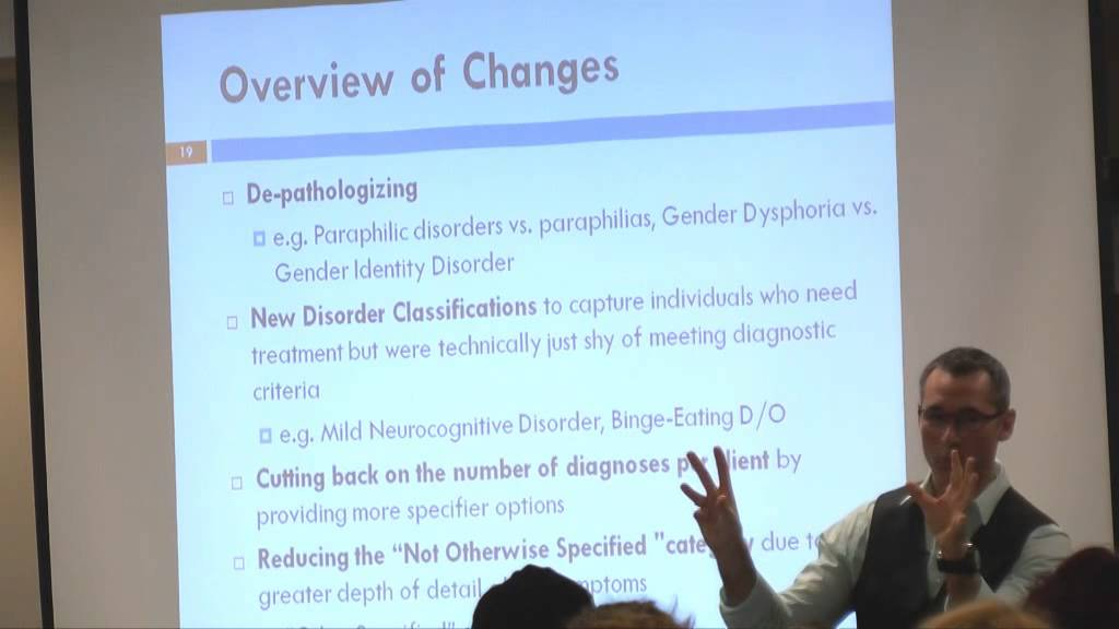 DSM-5 Update For Counselors & Students, Part 1