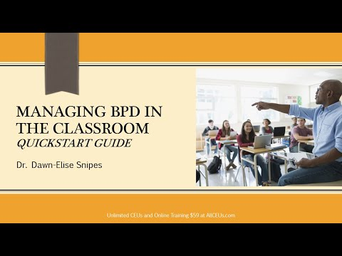 Quickstart Guide for Addressing BPD in the Classroom