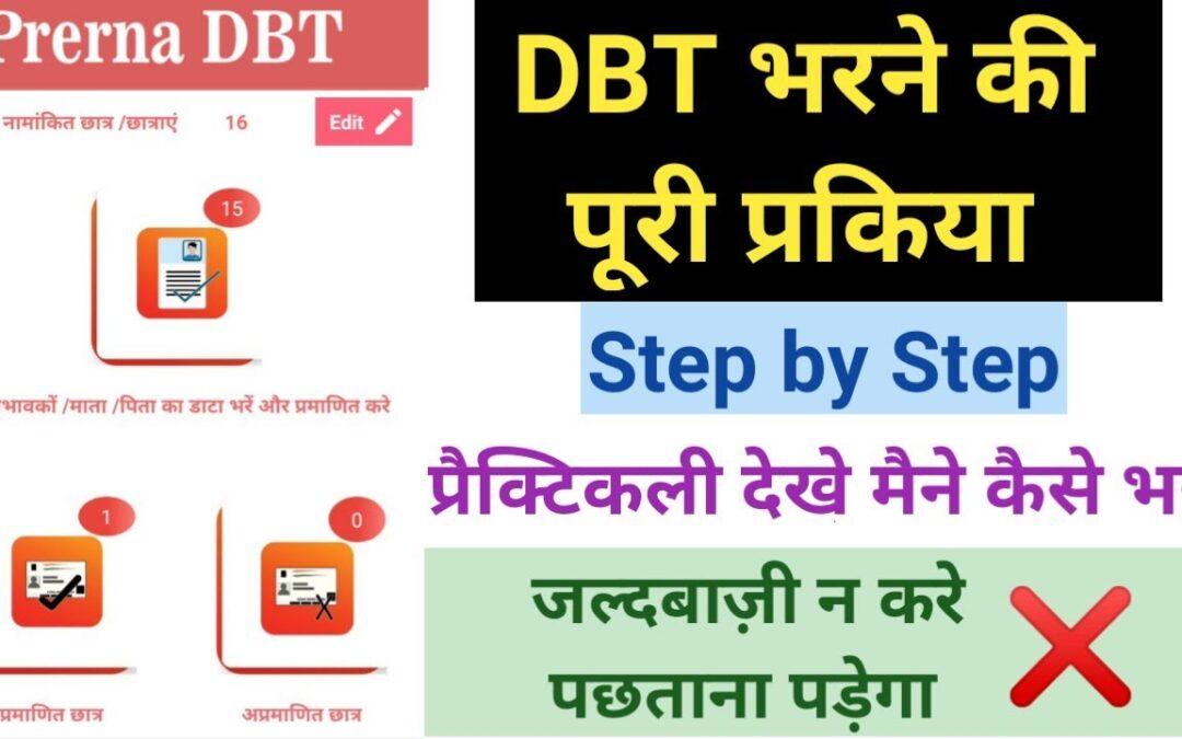 DBT भरने की पूरी प्रकिया बिना गलती के(Step by step) | देखिये मैने कैसे भरा | Prerna DBT App